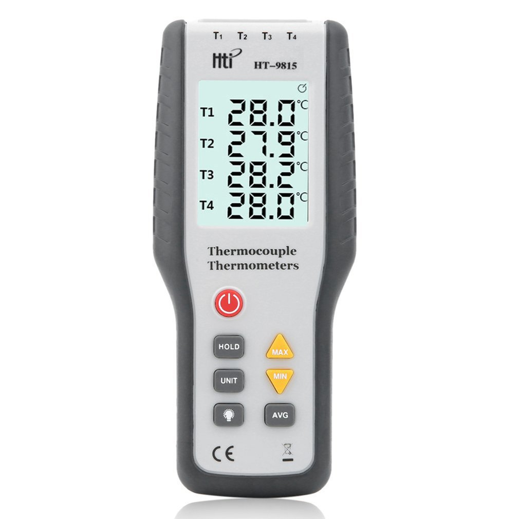 Real Industrial LCD Digital K Type Thermocouple Thermodetector 1372 Degree Centigrade Thermocouple Probe HT 9815