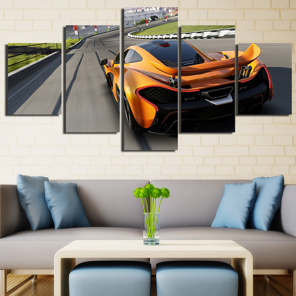 Mclaren P1 Super Car Art Silk Posters 13x20 24x36 inch 14