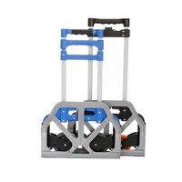 Folding luggage cart portable luggage driver cart trailer load 80 kg Eco Friendly Sundries organizer metal basket storage