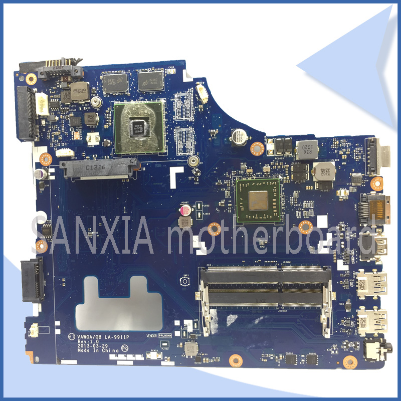 где купить SHELI original LA-9911P laptop motherboard for Lenovo G505 motherboard tested mainboard A4 CPU VAWGA/GB LA-9911P main board по лучшей цене