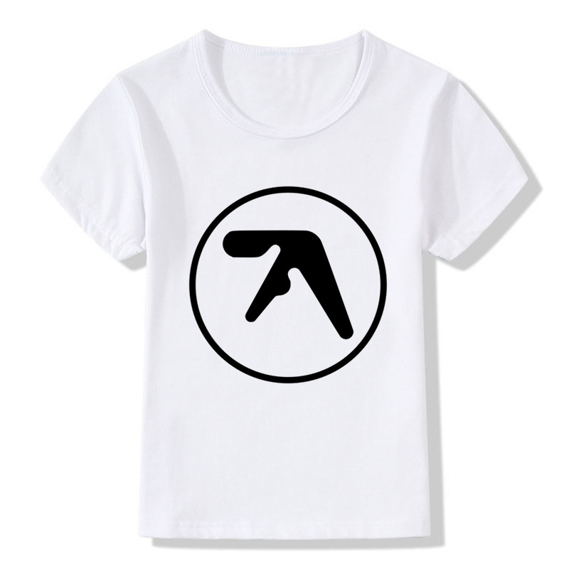 Aphex <font><b>Twin</b></font> Print Funny Children T <font><b>shirt</b></font> Summer Boys/Girls Tops Short Sleeve Clothes Casual Hipster Baby Kids T shits,HKP934 image
