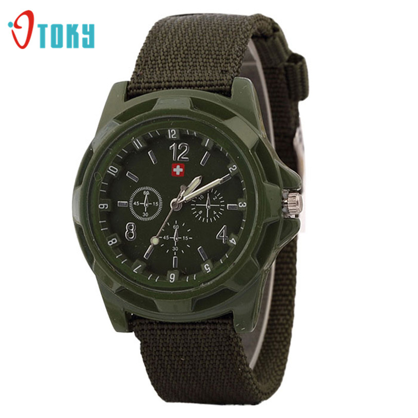 OTOKY 1 pc Mens Watches Fashion Army Military Nylon Fabric Band Quartz Watch Men relogio masculino 2017 Gift #23