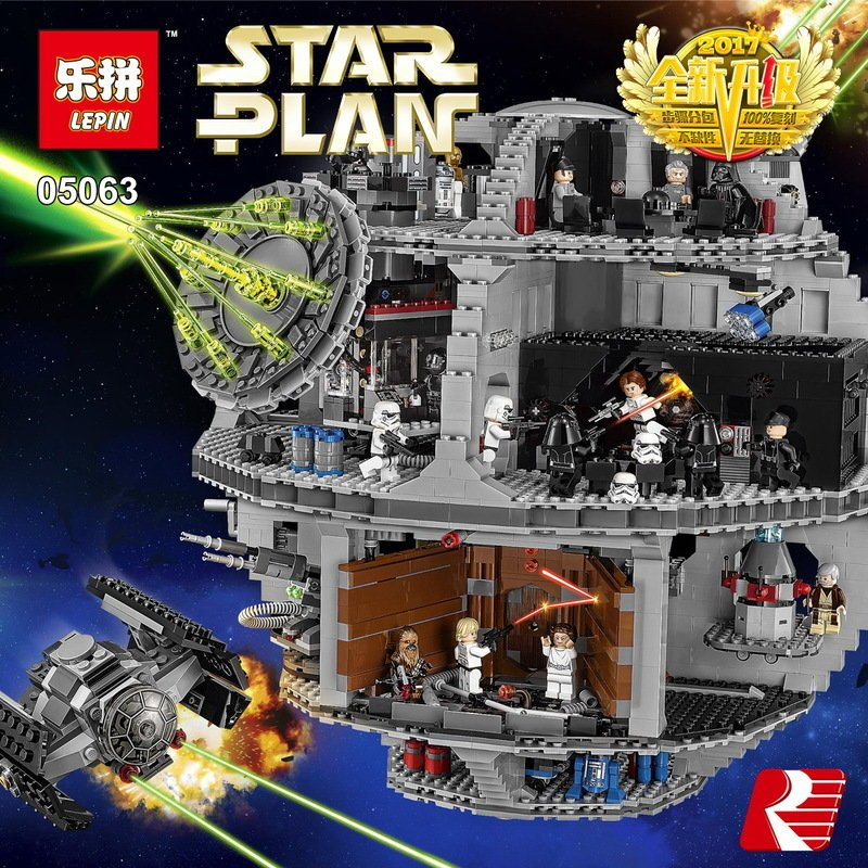 Lepin 05063 Star series Wars Death Star Building Blocks Bricks Wars Educational Toys Compatible with Lego 75159 4116 Pcs конструктор lepin star plan большая звезда смерти 4116 дет 05063