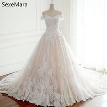 SexeMara 2019 Princess Wedding Dresses White Gowns