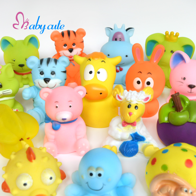 20pcs/lot Bath Toys Baby Bathtub Toys Cute Soft Rubber Float Jouet ...