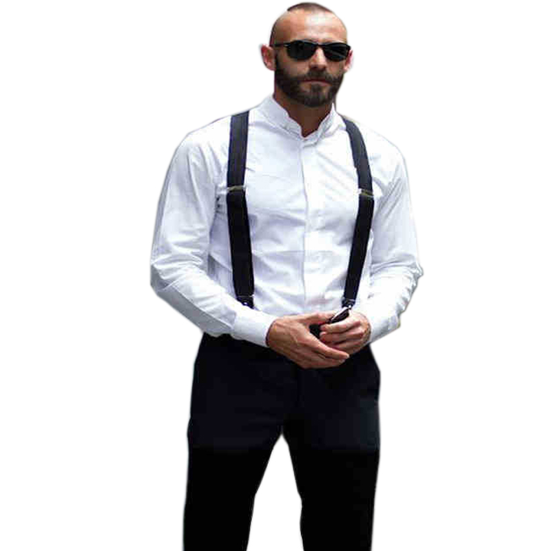18 color Men s Suspenders men Braces Supports Elastic Adjustable Pants Suspenders Mens Clothing Accessories