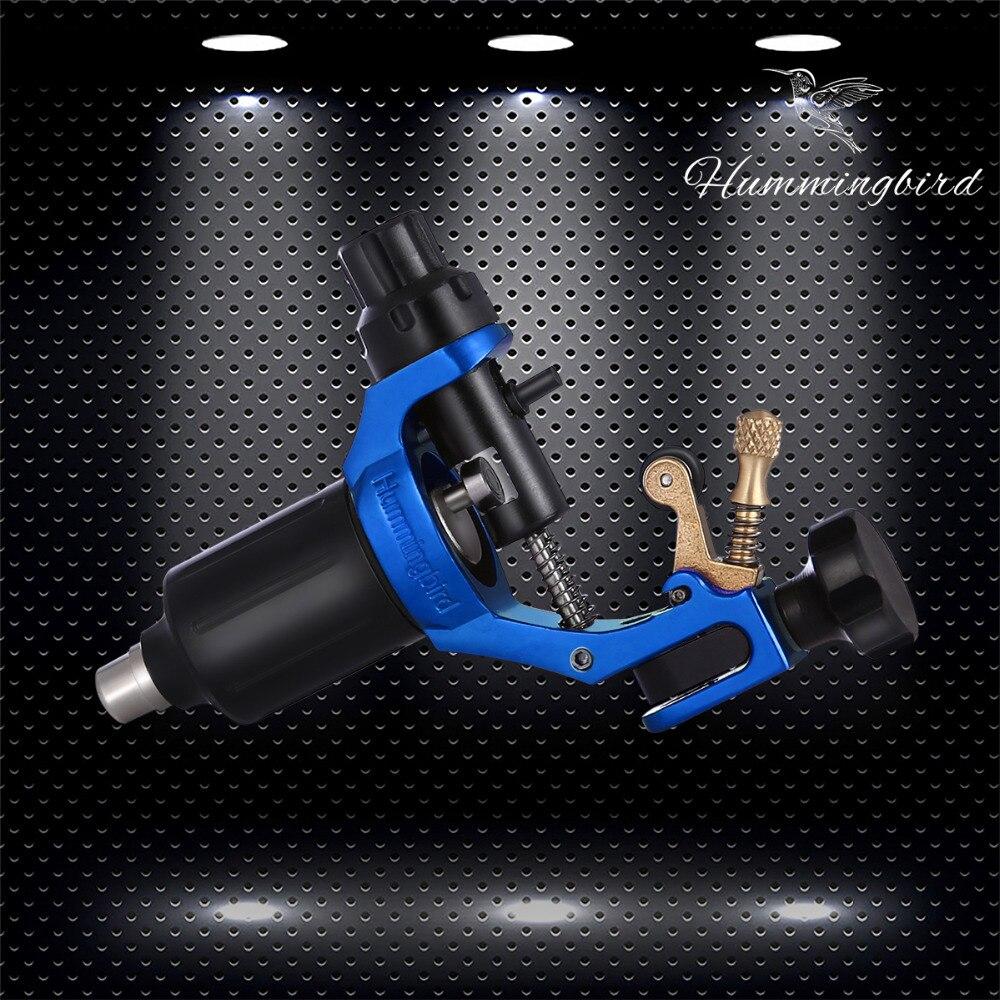 2017 Pro Rotary Tattoo Machine Gun Swiss Motor With Cord Cip Cable Hummingbird RCA Jack Supply Blue V1 sky blue original hummingbird gen2 rotary tattoo machine gun swiss motor rca jack supply