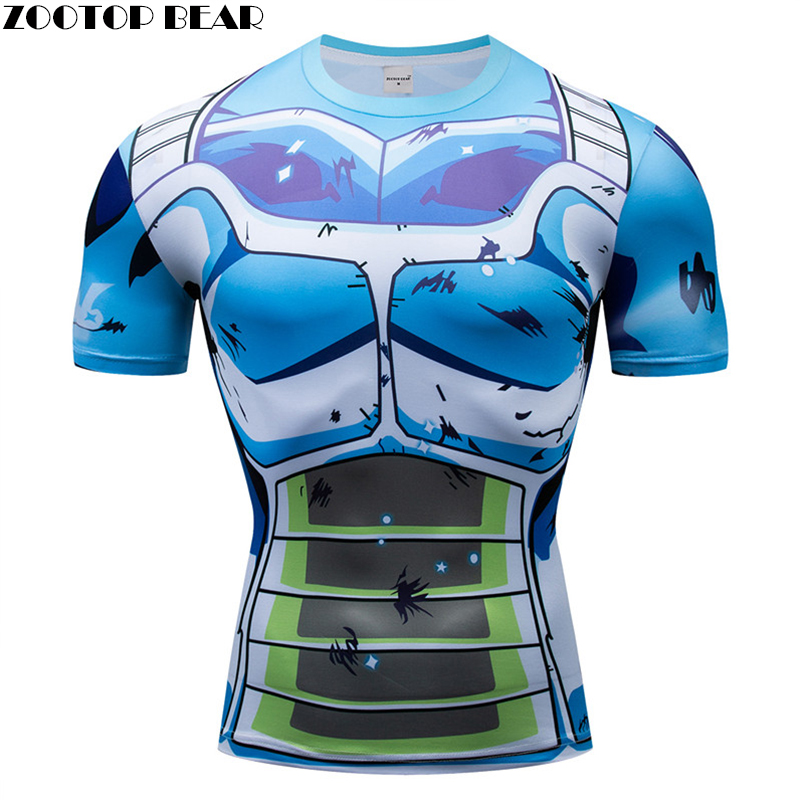 Dragon Ball t shirts Men Compression T-shirts 3d Short Sleeve Tops Tees Gym tshirts Fitness shirts Male Drop Ship ZOOTOP BEAR