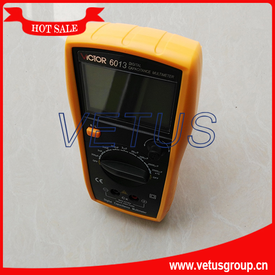 High precision Digital Capacitance Meter VC6013 with handheld Multimeter Brands LCR Meter my68 handheld auto range digital multimeter dmm w capacitance frequency
