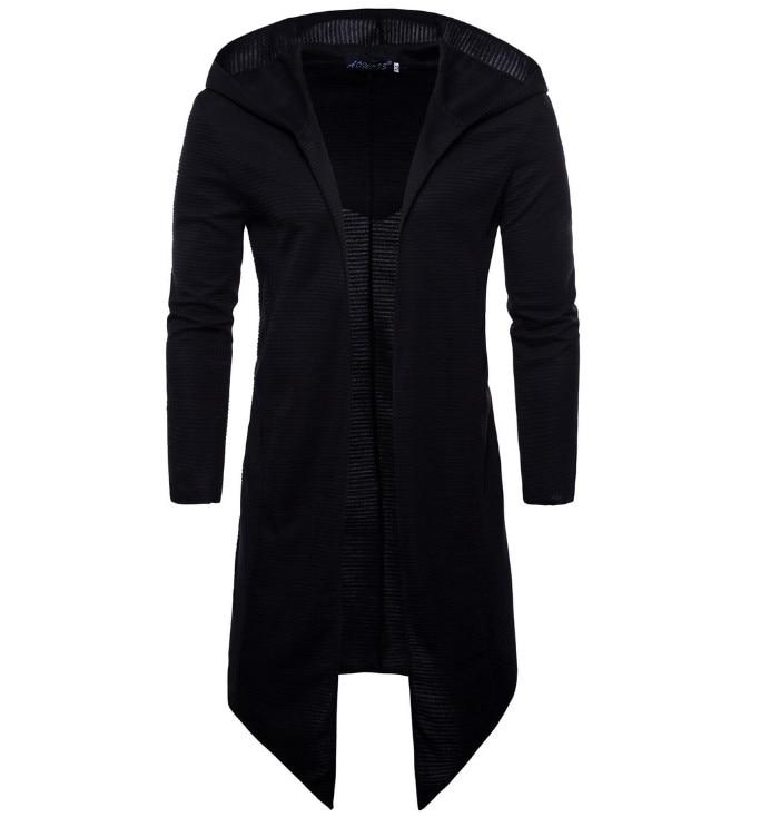 2019 Spring Hooded Cloak Long Cardigan Coat New Europe And America Long Windbreaker Cloak Coat Knitted Sweater Big Size 5XL