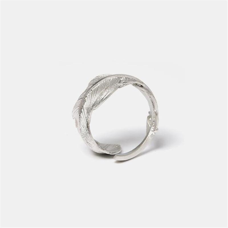 Flyleaf 925 Sterling Gümüş lələk Açıq üzüklər Qadınlar - Moda zərgərlik - Fotoqrafiya 2