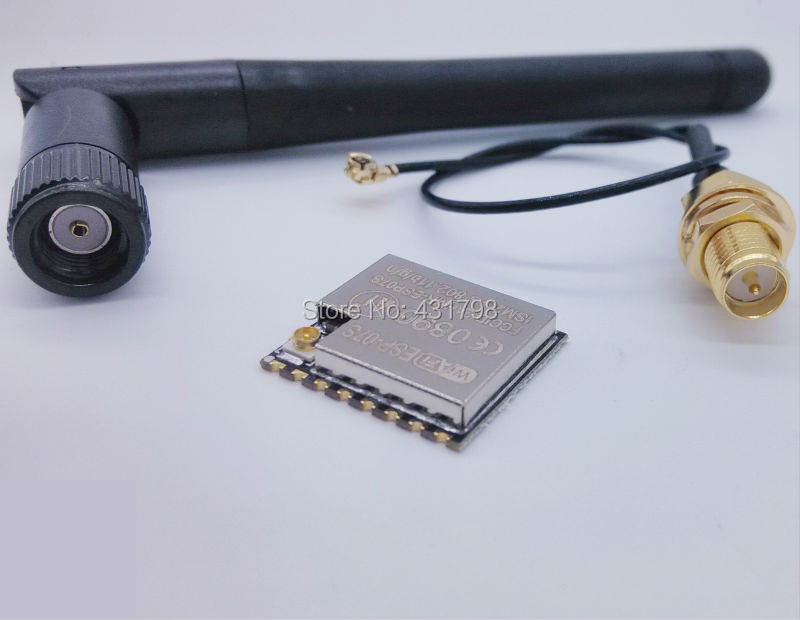ESP8266 serial WIFI module ESP-07S + 3DBI gain antenna esp 07 esp8266 wifi serial transceiver module