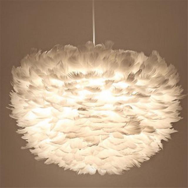 Moderne Blanc Plume Pendentif Lampe Salon Chambre D Hotel Salon Art