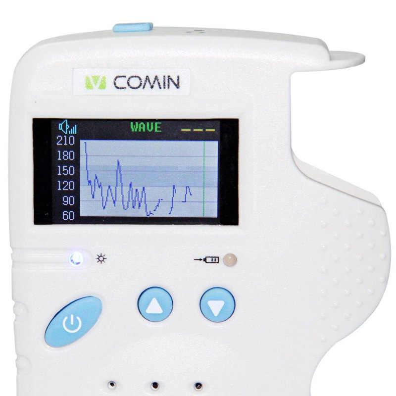 2.0 Mhz Professionele Foetale Doppler Babyfoon 1.8 inch Lcd-scherm Baby Hartslag Detector Geen Oplader Thuisgebruik