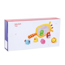 New Cute Cartoon Water Baby Boys Girls Bath Toys Rubber Duck Bathroom Toys Floating Fish For Kids Shower Mesh Classic Toys