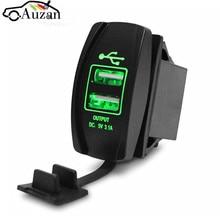 12/24V Dual USB Автомобильное зарядное устройство для сигарет розетка машинный Зарядное устройство Мощность адаптер 3.1A 5V Выход с 4 цвета светодиодный светильник для всех телефонов для Toyota/Skoda/VW/Audi