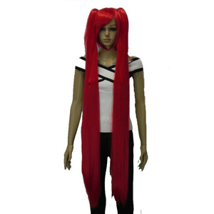 Image 5 - Strongbeauty女性のコスプレかつらダブルポニーテールロングストレート髪型2クリップオン合成耐熱性繊維かつら
