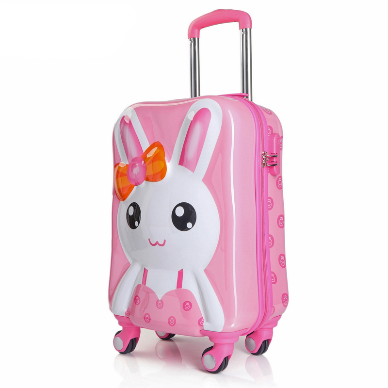 55e294fd70ce Online Shop BeaSumore Children Rolling Luggage Spinner Travel Duffle Kids  Suitcase Wheels Cute Cartoon Trolley 3D Cabin School Bag Trunk