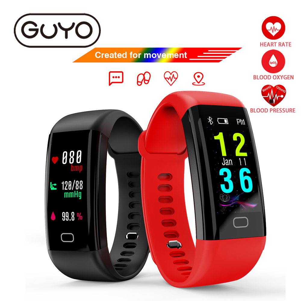 GUYO Smart Watch IP68  Heart Rate Monitor Waterproof Fitness Tracker Blood Pressure Bluetooth For Android IOS men women bluetooth smart wrist watch blood pressure watches bracelet heart rate monitor smart fitness tracker wristband for android ios