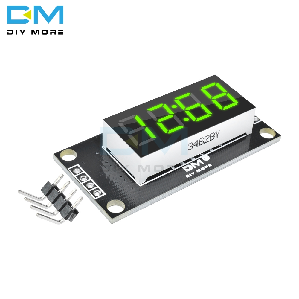 4-Digital Display Module For Arduino With Clock 0.36 Inch 7 Segments Display Tube Green LED Board TM1637 Module
