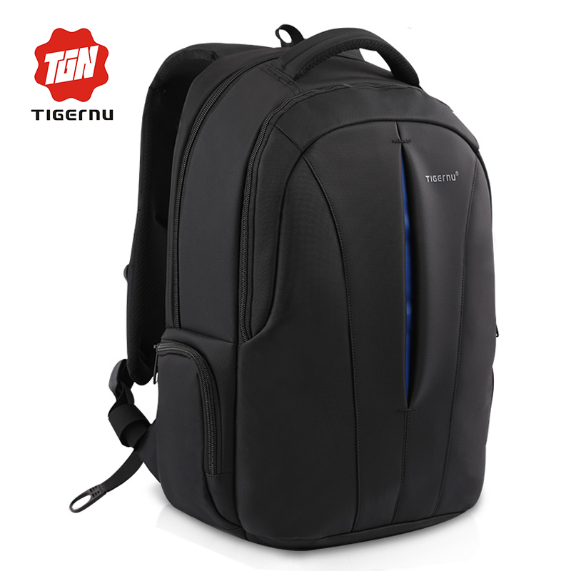 ФОТО 2017 Tigernu Classic Style Men Backpack Student School Backpack Bags Waterproof 15.6