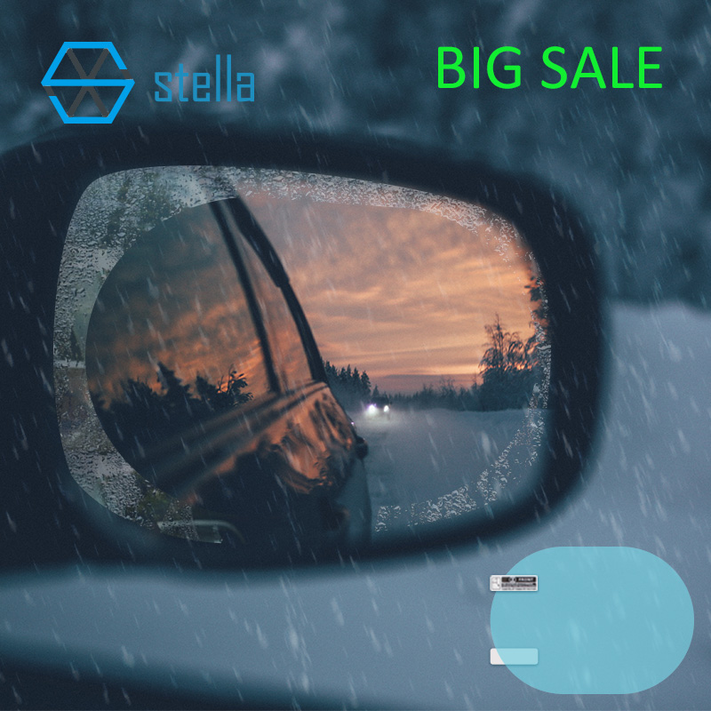 2Pcs car rearview mirror waterproof membrane transparent Clear Film Sticker seeing more clearly on rainy days and more safer cliffsnotestm on more s utopia