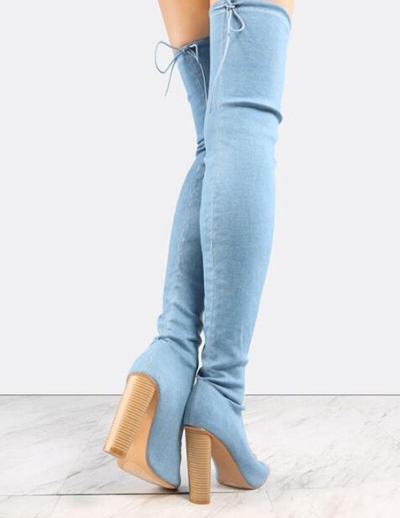 Rodilla Botas Cut Vendaje La De Nuevo Pie Las Alta Sobre Sexy Super Mujeres Talón Delgado Diseño Moda out Abierto Estilo Gruesa Zapatos Vestido Del Dedo 6OTzqp