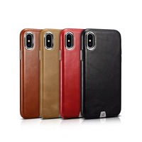 2018 Icarer Transformer Series Business Leather Case For iPhoneXs High Quality Retro Genuine Leather Cover Case For iPhoneX