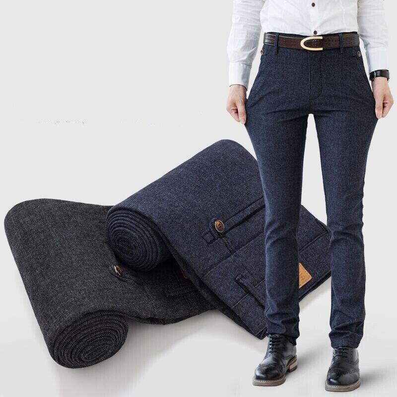 2017 Men Casual Wear Pants Comfort Big Size 28-38 Brand New fashion design cotton Outdoors Long Trousers