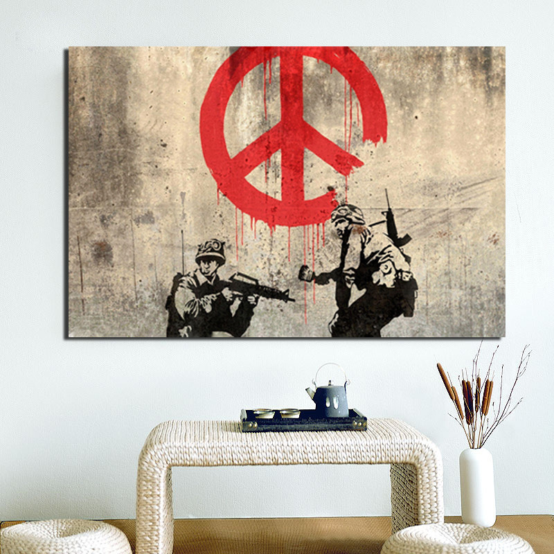 Banksy War And Conflict Art HD Canvas Painting Print Living Room Home Decor Modern Wall Oil Posters Picture Artwork