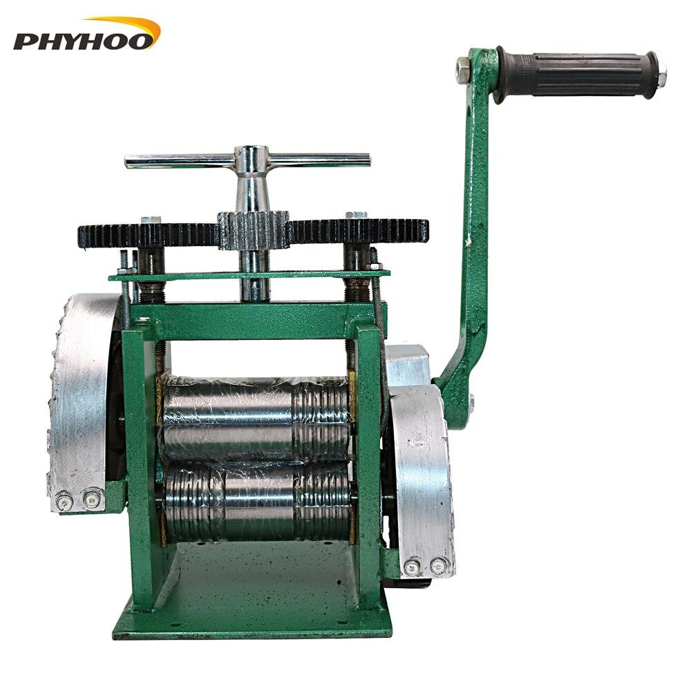 Máquina de laminación combinada rodillos metálicos manuales diseños de aplanamiento herramientas para hacer joyas herramientas