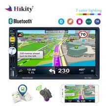 Hikity 2 din gps RDS автомобильный стерео радио 7 дюймов IOS/Android зеркальная Ссылка Bluetooth автомобиль MP5 плеер с рулевым колесом пульт дистанционного управления