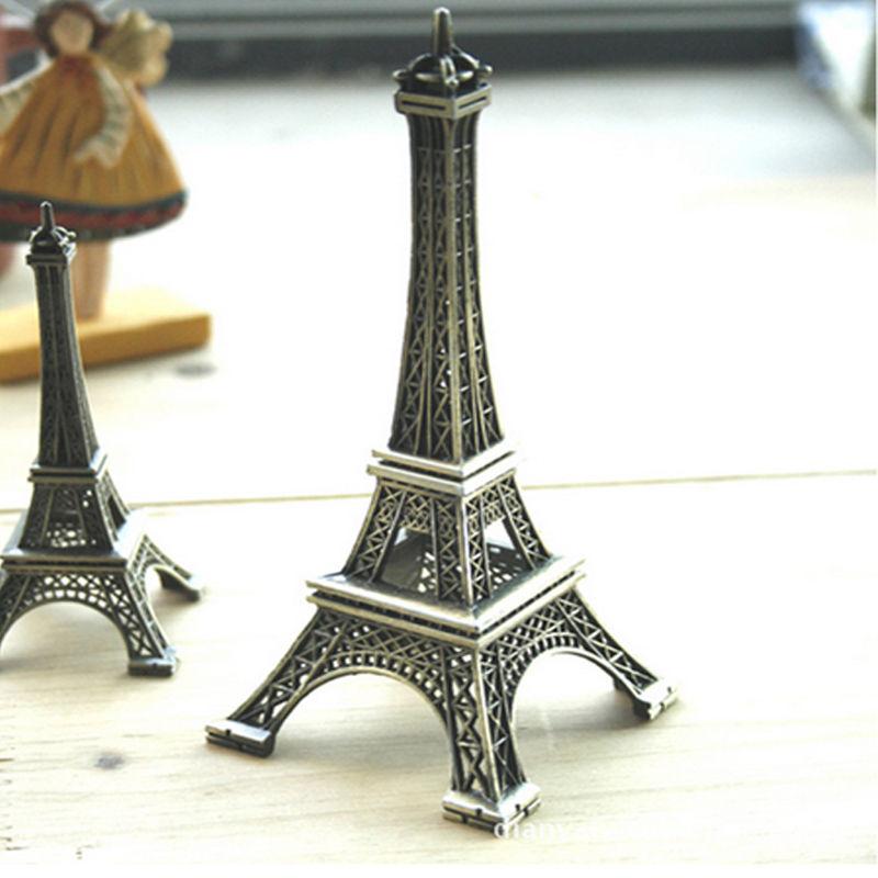 2017 Bronze Tone Popular New Home Decor Eiffel Tower Model Art Crafts Creative Gifts Travel Souvenir