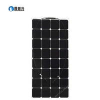Xinpuguang 100W flexible quality solar panel cell 12V 18V smooth surface module system kit RV car marine boat battery charger