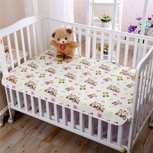 Waterproof Baby Soft Sheet Protector Infant Urine Mat Cotton Nappies Cover Pad Baby Bed Mattress Cover Newborn Bedding 80x120cm