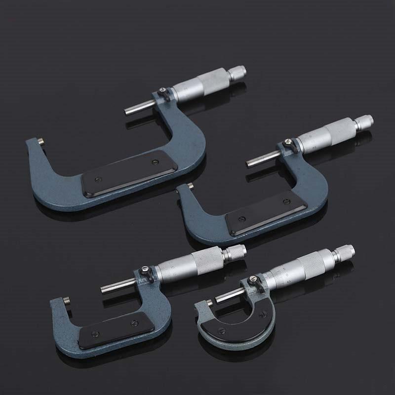 1Pc Outside Micrometer 0.01mm 0-25mm/25-50mm/50-75mm/75-100mm Metric Gauge Vernier Caliper For Measuring Tools