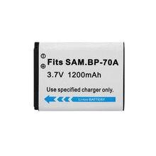 1200 мА/ч, BP-70A BP70A BP 70A Камера Батарея для SAMSUNG AQ100 DV150F ES65 ES67 ES70 ES71 ES73 ES74 ES75 ES80 MV800