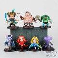 Lina DOTA 2 Kunkka Pudge Rainha Tidehunter CM FV PVC Figuras de Ação Brinquedos Colecionáveis 7 pçs/lote