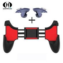 2 in 1 Handy Spiel Controller Für PUBG Mobile Trigger Gamepad Gaming Feuer/Ziel Schlüssel Taste l1R1 Shooter Joystick