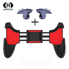 2 in 1 Mobiele Telefoon Game Controller Voor PUBG Mobiele Trigger Gamepad Gaming Fire/Doel Key Button l1R1 Shooter Joystick