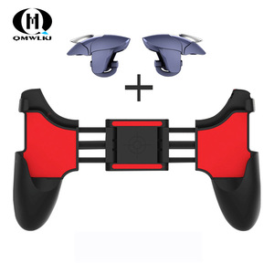 Image 1 - 2 in 1 Mobile Phone Game Controller For PUBG Mobile Trigger Gamepad Gaming  Fire /Aim Key Button L1R1 Shooter Joystick