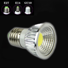 MARSWALLED GU10 E27 5W COB LED Spotlight AC85V-265V LED Bulb Lamp Aluminum Case Warm White Neutral White Cool White