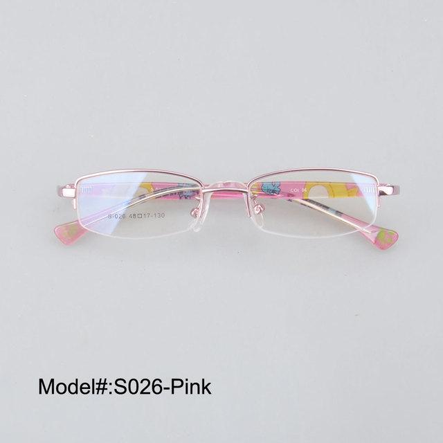 S026 media llanta envío gratis niños de moda miopía gafas RX marcos ópticos