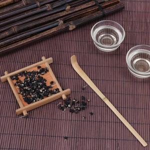 VKTECH бамбуковая чайная ложка для чая ручной работы аксессуары для чайной церемонии Удобная бамбуковая чайная ложка ручной работы X1