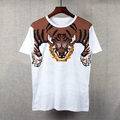 Pixel Tiger Printing Summer Style Fashion T-shirt Kpop Designer Clothing Women&Men Short Sleeve 100% Cotton Tee Free Shipping