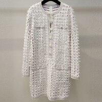 Свитер платье для женщин высокое качество хлопок + кашемир 2019 весна свитер с круглым вырезом свободная повседневная женская одежда кисточк