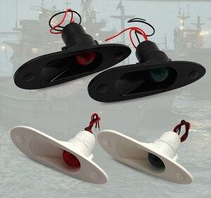 Image 3 - 1 zestaw czerwony zielony Port światło Starboard światło 12V łódź morska jacht LED światło nawigacyjne
