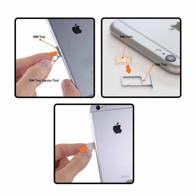 10PCS Sim Card Tray Ejector Eject Pin Key Removal Tool For iPhone Apple 6 6S 7 Plus huawei p8 lite P9 xiaomi redmi 4 pro 3 Phone 4