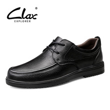 CLAX Mens Oxfords Genuine Leather 2019 Spring Autumn Male Dress Leather Shoes Retro Man's Shoe Formal Footwear Wedding Shoe цена