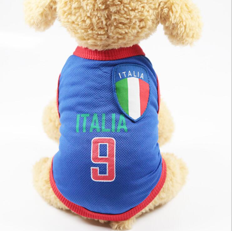 ITALY World Cup Puppy Pet Dog Clothes Vest For Dogs Costume Pet Cat Clothing Puppy Clothes World Cup Clothes D674B(China)